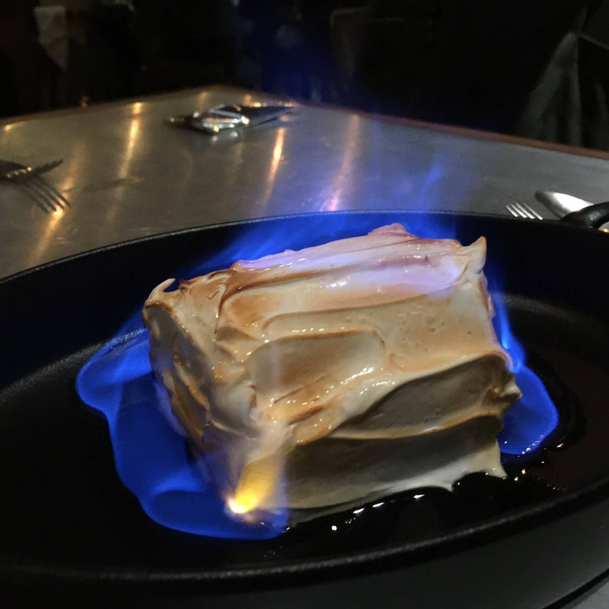 mr & mrs fox quarry bay dessert baked alaska elaine white