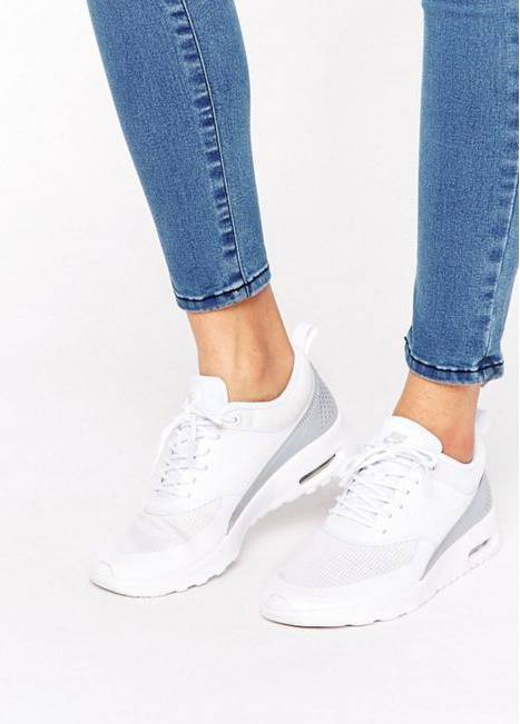 ike White & Silver Air Max Thea TXT Trainers - 約HKD461.33