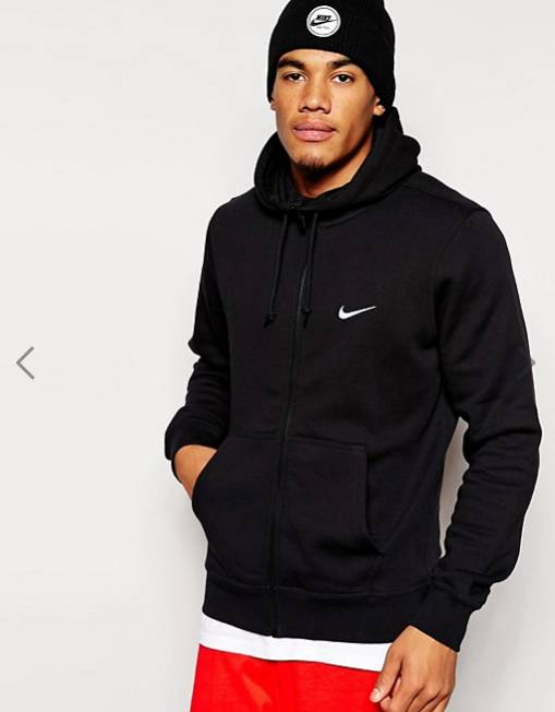 Nike Zip Up Hoodie With Swoosh Logo - 約HKD282.30