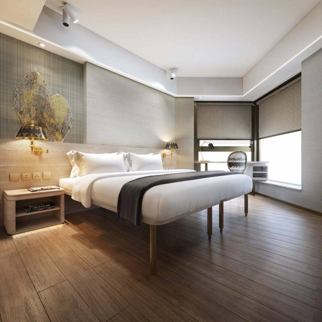 簡約明亮的客房配備沙發床或工作桌可供選擇。(圖片來源:官方圖片)