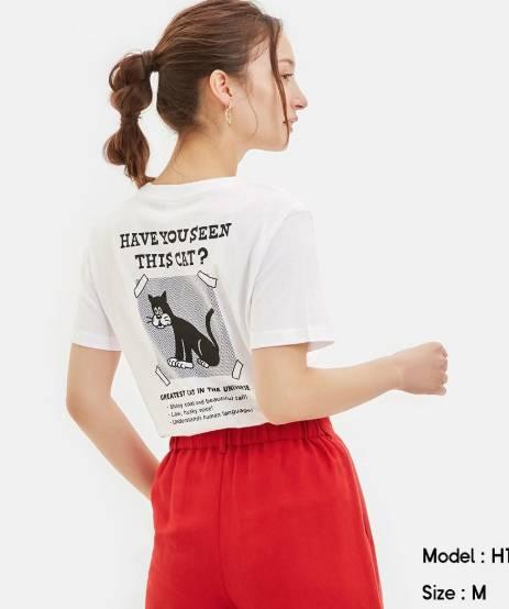 英文小字句T-shirt (白色)