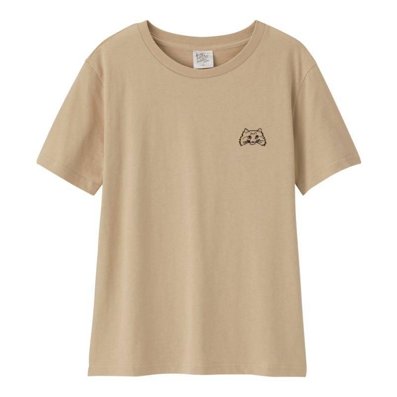 貓貓印花T-shirt (啡色)