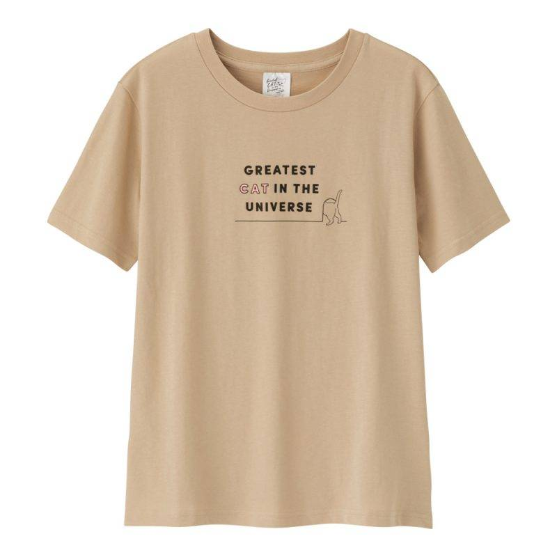 英文字句T-shirt (啡色)