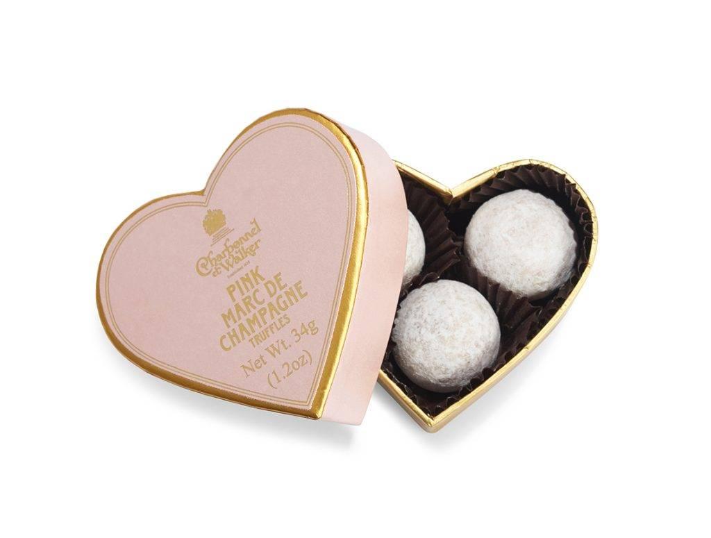 招牌Pink Marc de Champagne Chocolate Truffles(迷你心形禮盒)
