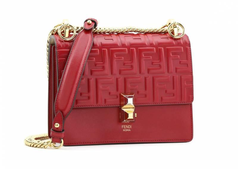 FENDI紅色皮手袋 ,460(原價,200)