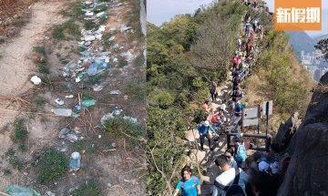 行山人數激增 廢棄口罩、垃圾滿佈山頭!散播細菌病毒 超無公德心!|網絡熱話