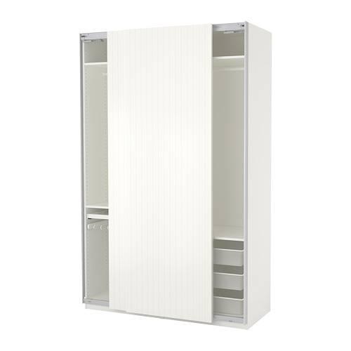 PAX白色衣櫃 ,864(原價,640)
