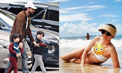 周汶錡厚底老公啜女斷正後扮無事   2日後陪仔去沙灘好爸爸上身