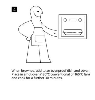 4)放在焗盤上,放入已預熱好的焗爐中,以 180°C 焗30分鐘。(圖片來源:IKEA UK Twitter)