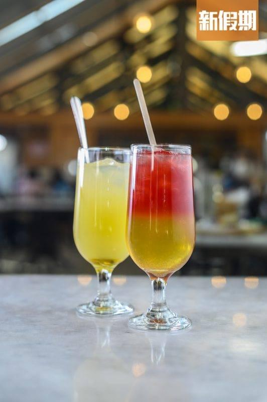 紅樹林特飲 紫貝天葵與蘋果絕妙搭配,清新開胃。 大澳蜜糖檸檬特飲 蜜糖混合酸澀的檸檬,中和過甜的感覺。