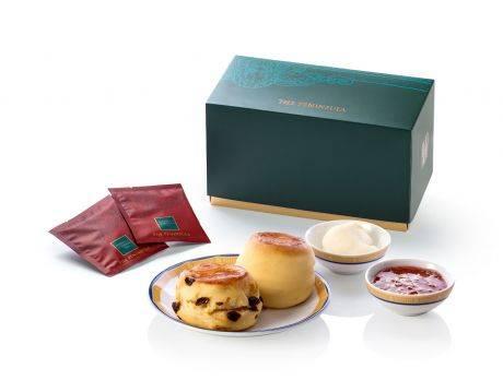經典下午茶及鬆餅 $108  經典半島下午茶都可以外賣送上門!套餐包括半島特色鬆餅、士多啤梨果醬、自家製奶油及兩個半島茶包。