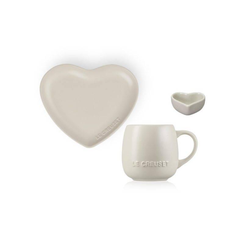 Sphere 陶瓷杯連心形碟及牛奶壺 Hemp 套装 特價$329 原價$486