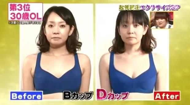 更有女士連升兩級,由A cup至升C cup之餘,胸部看上去更比之前堅挺實在。