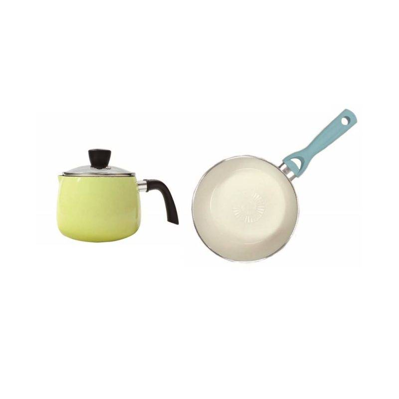 Uniconcept 14cm多用途手柄煲+28cm陶瓷塗層平底煎鍋廚具套裝8 (原價0)