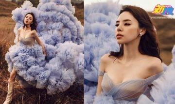 38歲譚凱琪谷胸婚照首度公開 香港取景長裙配長靴仙氣滿瀉