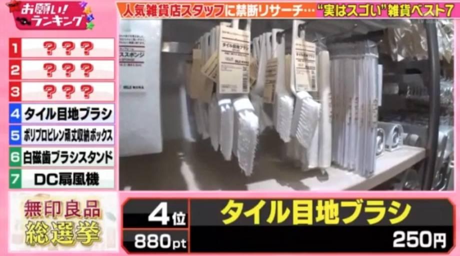 浴室潔淨刷爆冷跑出!(圖片來源:《お願い!ランキング》節目截圖)
