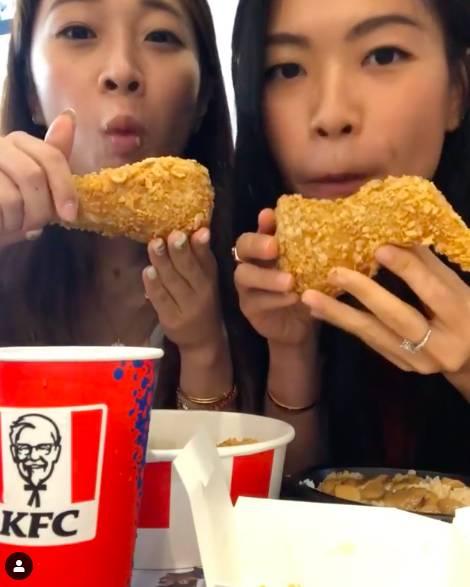 KFC炸雞,於KFC堂食,超搞笑。