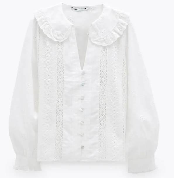 鏤空刺繡襯衫 9(原價9)