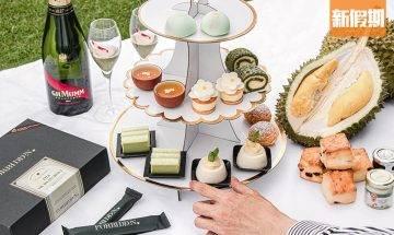 Hotel ICON外賣貓山王榴槤下午茶!3層架+11款甜點 單買榴槤甜品最平$12件|外賣食乜好