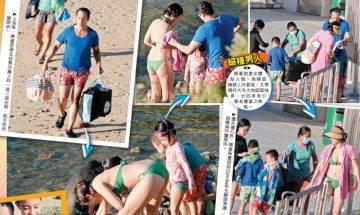 獨家直擊!49歲陳豪為子女犧牲髮線  緊張爸爸肉身截車護妻兒