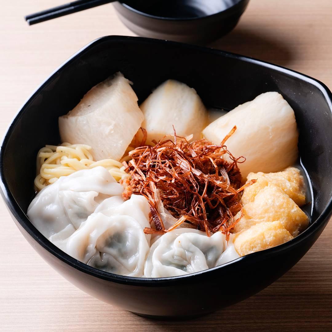 菜肉雲吞慶麵