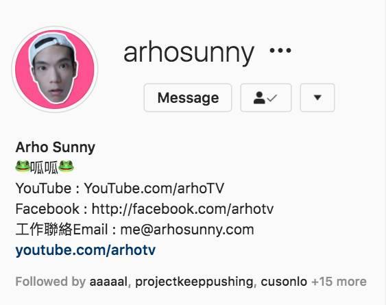 arhoTV 的Instagram專頁