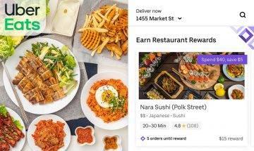 Uber Eats隱藏優惠公開!餐廳獎賞計劃+獨家優惠碼 新用戶減$100