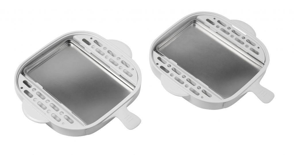 電蒸鍋採用食用級304不鏽鋼盤,清洗方便。