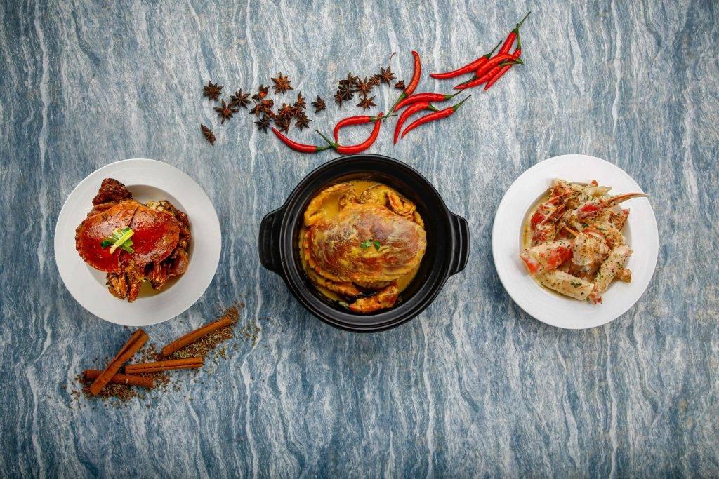 多款螃蟹製成的美食可供選擇。
