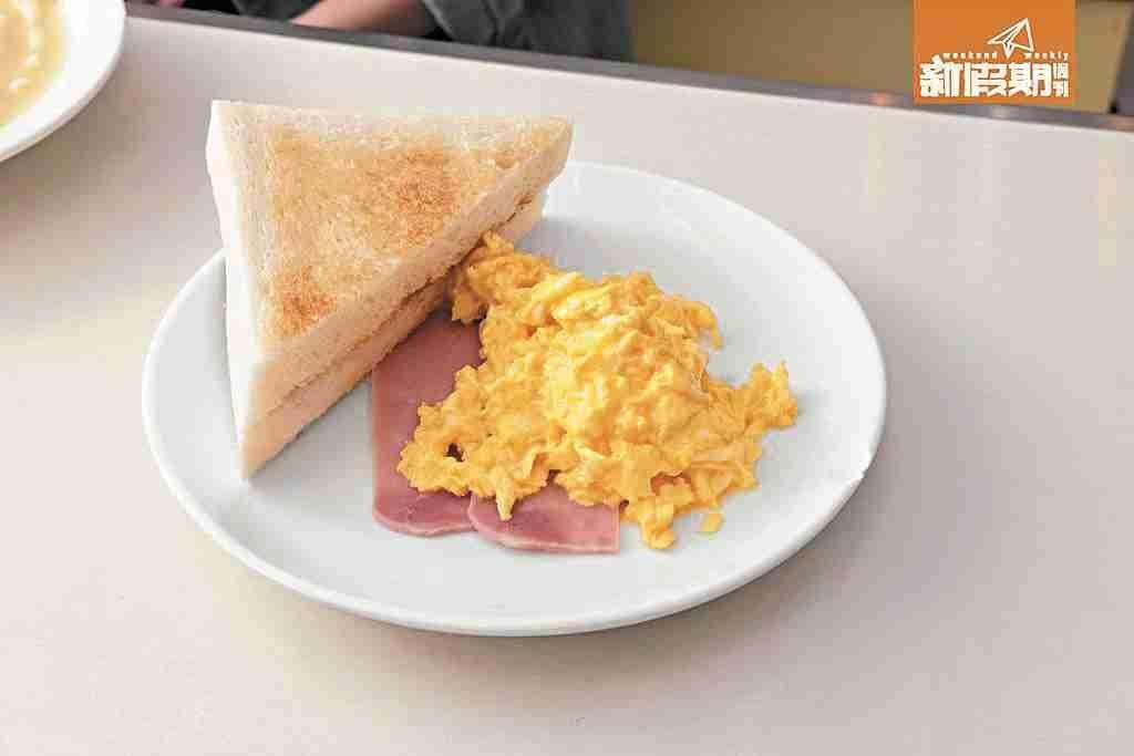 不建議粉麵配腸仔、煎蛋及牛油多士。