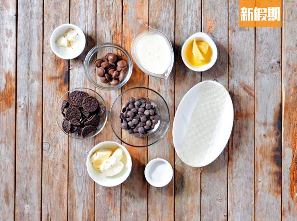 甜品食譜!免焗Oreo朱古力芝士蛋糕 夢幻漸層 熱溶+攪拌+冷藏即成 新手必備|懶人廚房