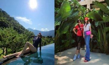 蔡依林40歲晒超誇長腿慶生 網友爆笑:怎變巨人了?