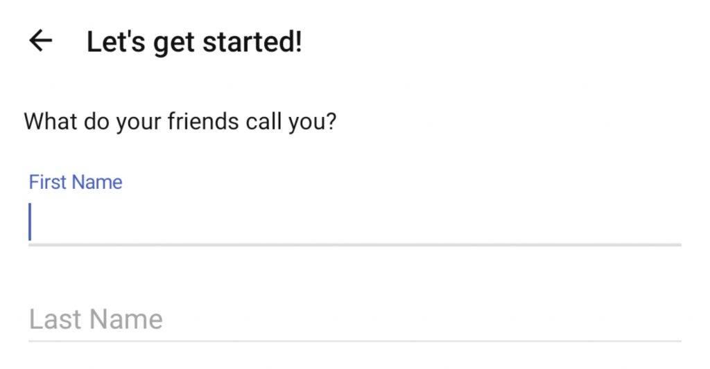 2. 填寫帳戶姓名