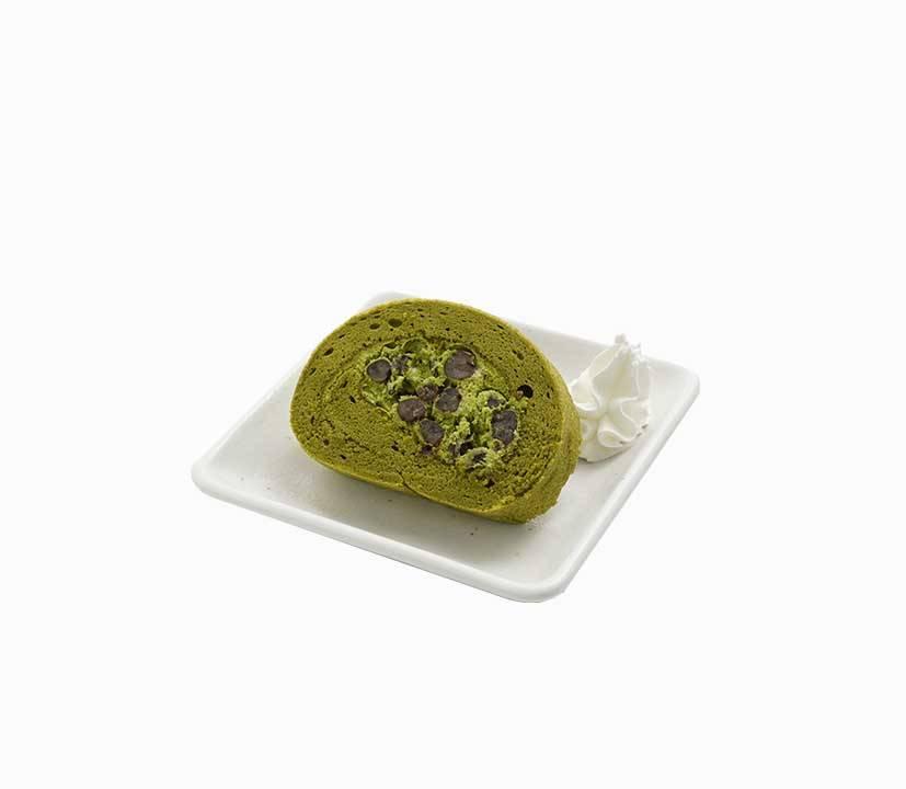 抹茶瑞士卷卷蛋鬆軟,抹茶回甘。