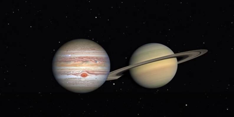 20年一見等木星合土星將於今日(12月21日)上演,今次更是400年內兩顆行星最接近一次!(圖片來源:NASA)