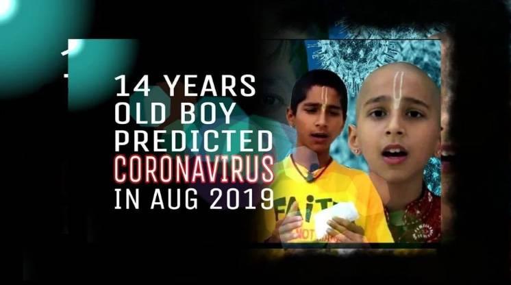 印度14歲占星神童阿南德(Abhigya Anand),去年8月在YouTube上傳了一條影片,成功預測新冠肺炎疫情爆發。(圖片來源:fb@Abhigya Anand)