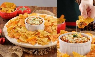 食唔停口!聖誕派對小食|芝士茄汁焗豆肉醬配墨西哥片|懶人廚房