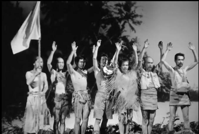 17名生還者於1951年6月26日投降。(圖片來源:電影《Anatahan》)