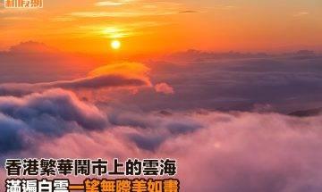 【#網絡熱話】|香港繁華鬧市上的雲海