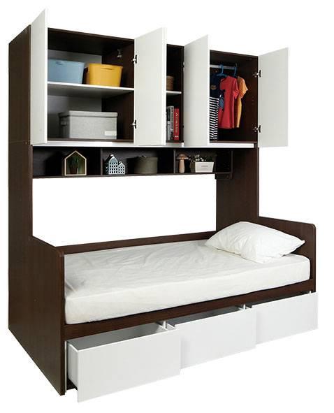STAPLE 三櫃桶組合床連五門衣櫃,999(原價,299)