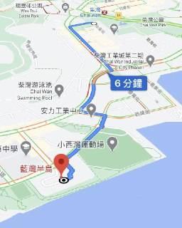 Donki藍灣半島位置離地鐵站較遠,需轉搭其他交通工具前往。