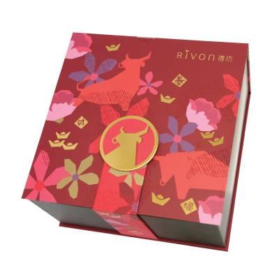 禮坊牛轉乾坤生肖禮盒 8 10款禮坊招牌法式甜點如禮坊鬆塔、榛果巧克力餅等。