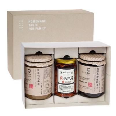 Nicole's Kitchen 手工果茶和辣椒油禮盒套裝 8 本地品牌自家製作,無添加的健康滋潤手工果茶及皇牌魔椒辣油。