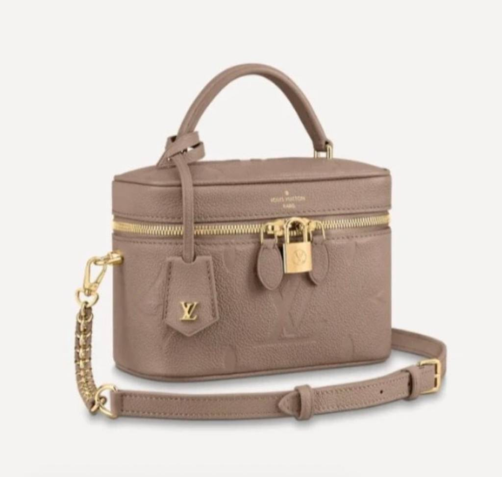 LOUIS VUITTON VANITY PM TOURTERELLE MONOGRAM EMPREINTE LEATHER