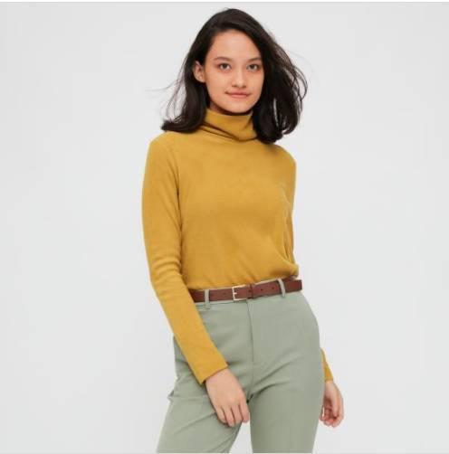 樽領衫其實可以取代頸巾,U記就有一件。(圖片來源:Uniqlo官網)