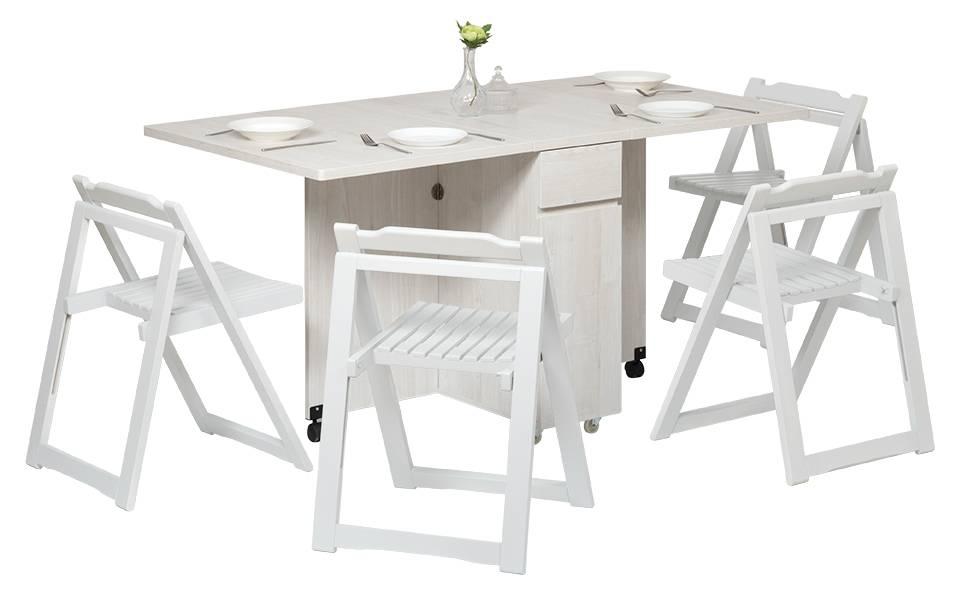 ALBA摺合餐檯連兩椅