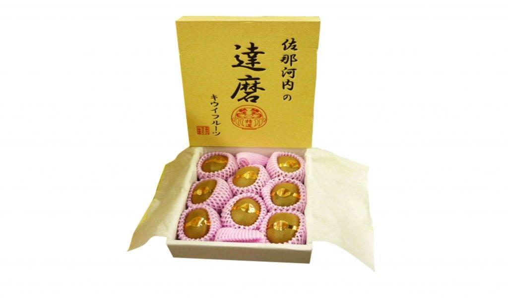 德島奇異果(達磨)0 一盒有8個,果肉細膩且果汁清甜。