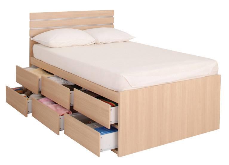 STAPLE波浪紋木屏六櫃桶雙人床