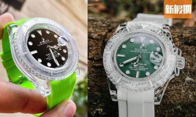 Rolex改裝錶款! 勞力士Submariner變透明似足Swatch?