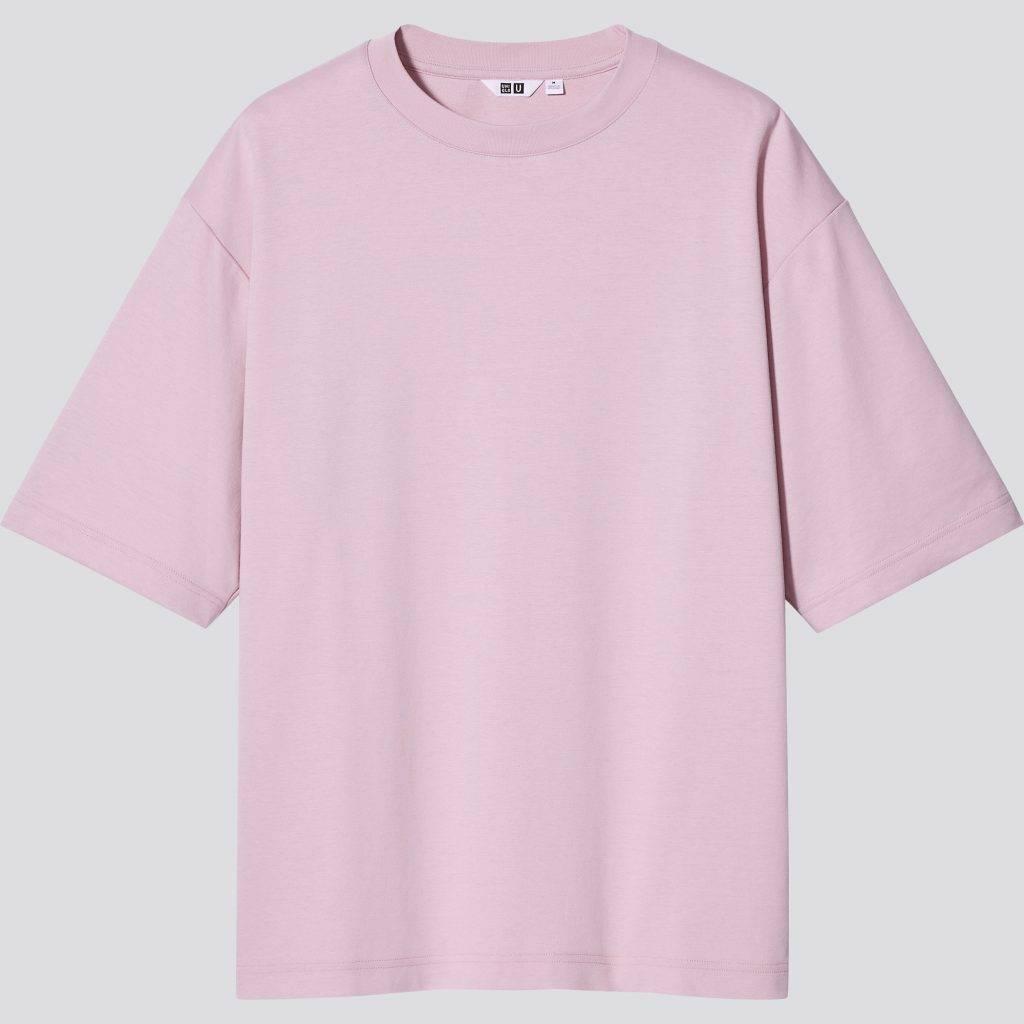 男女裝 U AIRism 棉質寬鬆圓領T恤 (原價 ),備有多色選擇